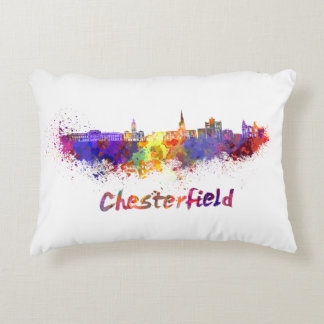 Chesterfield skyline im Watercolor Zierkissen