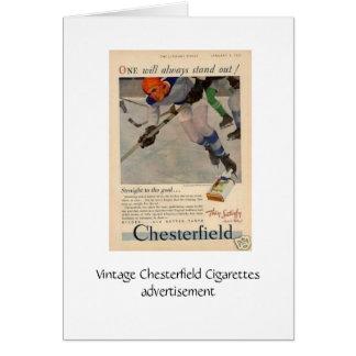 Chesterfield-Zigaretten Anzeige, Gruß-Karte Karte