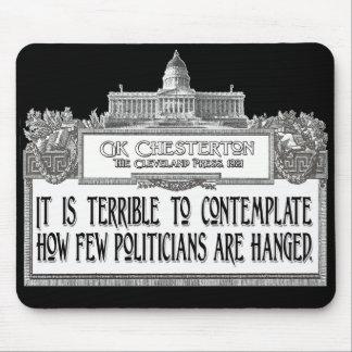 Chesterton auf dem Hängen der Politiker Mauspad