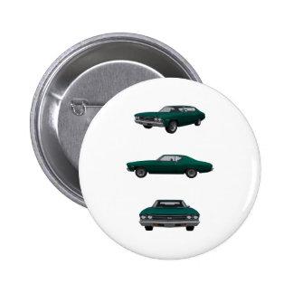 Chevelle 1969 SS: Runder Button 5,1 Cm