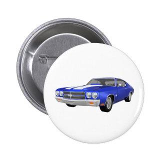 Chevelle 1970 SS: Blaues Ende: Runder Button 5,1 Cm