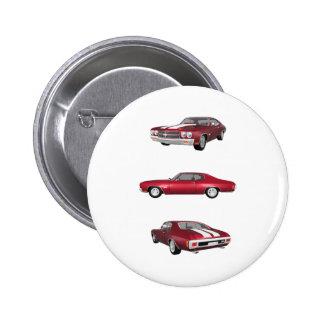 Chevelle 1970 SS: Runder Button 5,7 Cm