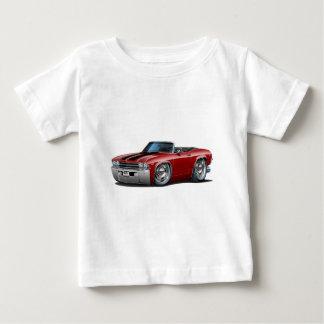 Chevelle Kastanienbraun-Schwarzes Kabriolett 1969 Baby T-shirt