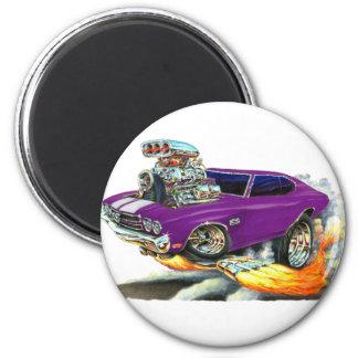 Chevelle lila Auto 1970 Runder Magnet 5,7 Cm