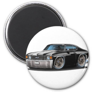 Chevelle Schwarz-weißes Auto 1971-72 Runder Magnet 5,1 Cm