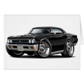 Chevelle schwarzes Auto 1966 Karte