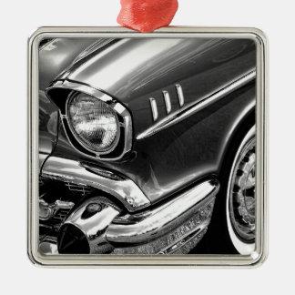 Chevrolet-Bel Air-Schwarzes 1957 u. Weiß Silbernes Ornament