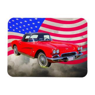 Chevrolet Corvette 1962 mit Staat-Flagge Magnet