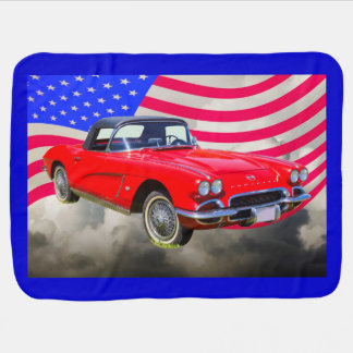 Chevrolet Corvette 1962 mit Staat-Flagge Puckdecke