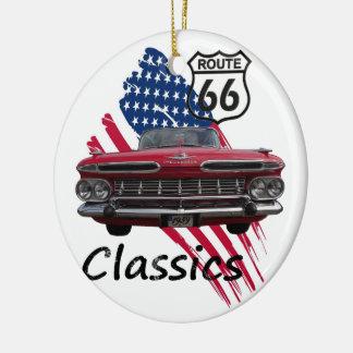 Chevrolet Impala on Route66 Keramik Ornament