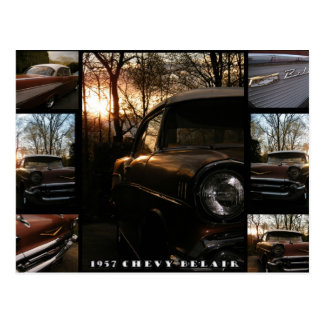 Chevy 1957 Belair Postkarte