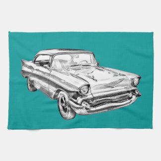 Chevy Bel Air-Illustration 1957 Geschirrtuch
