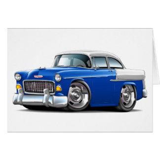 Chevy Belair Blau-Weißes Auto 1955 Karte