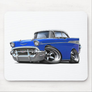 Chevy Belair Blau-Weißes frisiertes Auto 1957 Mousepad