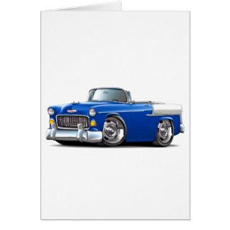 Chevy Belair Blau-Weißes Kabriolett 1955 Karte