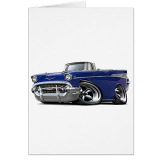 Chevy Belair dunkelblaues konvertierbares Karte