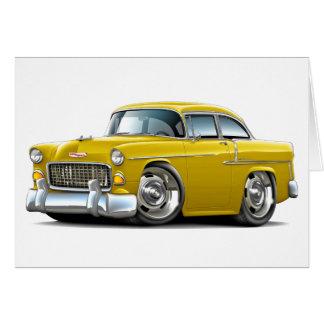 Chevy Belair gelbes Auto 1955 Karte