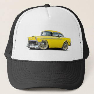 Chevy Belair gelbes Auto 1956 Truckerkappe