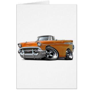 Chevy Belair orange konvertierbares frisiertes Karte