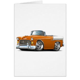 Chevy Belair Orange-Weißes Kabriolett 1955 Karte