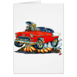 Chevy Belair Rot-Auto 1955 Karte