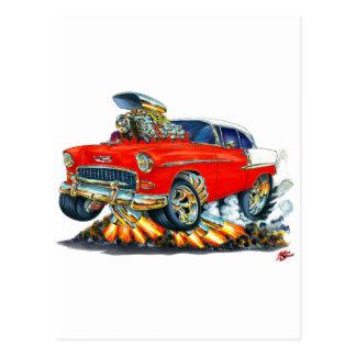 Chevy Belair Rot-Auto 1955 Postkarte