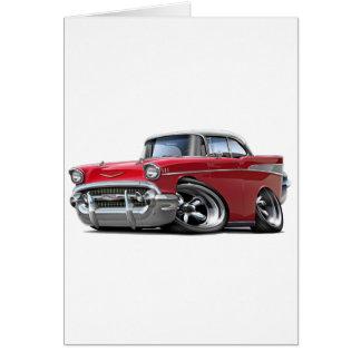 Chevy Belair Rot-Weißes Auto 1957 Karte
