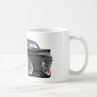 Chevy Belair Schwarz-weißes Auto 1957 Kaffeetasse