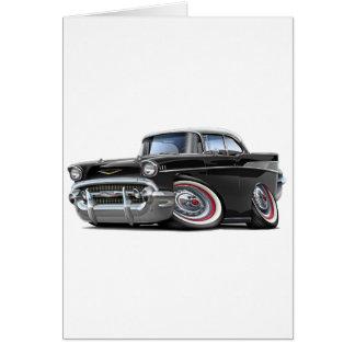 Chevy Belair Schwarz-weißes Auto 1957 Karte