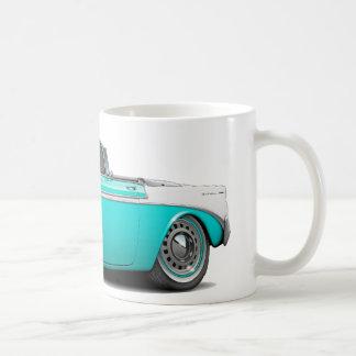 Chevy Belair Türkis-Weißes Kabriolett 1956 Kaffeetasse