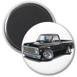 Chevy C10 schwarzer LKW 1970-72 Runder Magnet 5,1 Cm