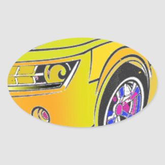 Chevy Camero Ovaler Aufkleber