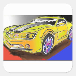 Chevy Camero Quadratischer Aufkleber