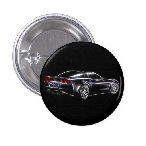 Chevy Chevrolet Corvette ZR1 Sport-Auto Anstecknadelbuttons