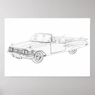 Chevy Impala 1960 Poster