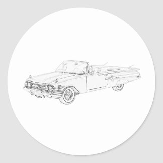 Chevy Impala 1960 Runder Aufkleber