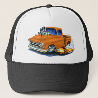 Chevy Lieferwagen-Orange 1957 Truckerkappe