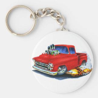 Chevy Lieferwagen-Rot 1957 Standard Runder Schlüsselanhänger