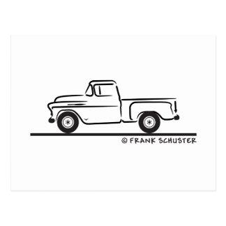 Chevy LKW 1955 Postkarte