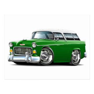 Chevy Nomade-Grün-Weißes Auto 1955 Postkarte