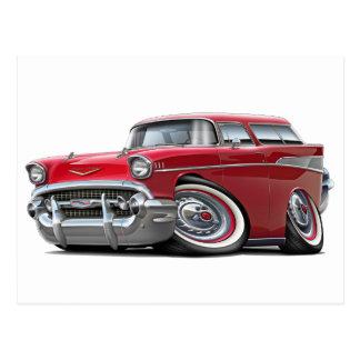 Chevy Nomade-Rot-Auto 1957 Postkarte