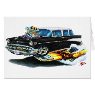Chevy Nomade-Schwarz-Auto 1957 Karte