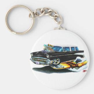 Chevy Nomade-Schwarz-Auto 1957 Schlüsselanhänger