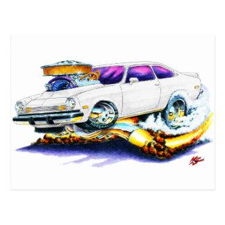 Chevy Vega Weiß-Auto Postkarte