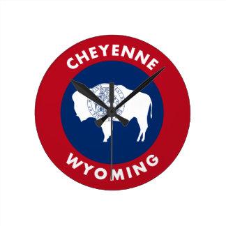 Cheyenne Wyoming Runde Wanduhr