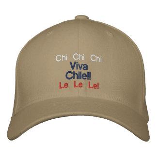 Chi-Chi-Chi, Le Le Le! Viva Chile-Hut!! Bestickte Kappe