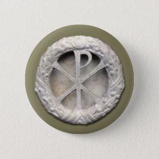 Chi-Rho-Monogramm Runder Button 5,1 Cm