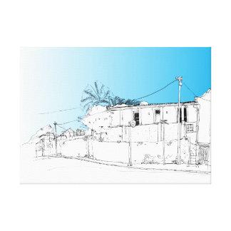 Chiappini Straße, Cape Town. Blauer Himmel Leinwanddruck