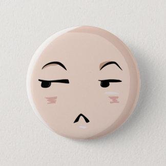 Chibi Anime Emoji Charakter-Ungläubigkeit Emote Runder Button 5,7 Cm