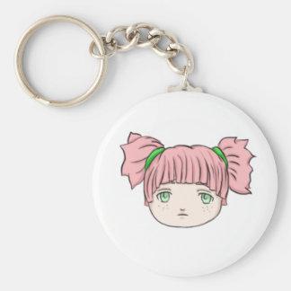 Chibi Anime-Puppen-Mädchen Keychain Schlüsselanhänger